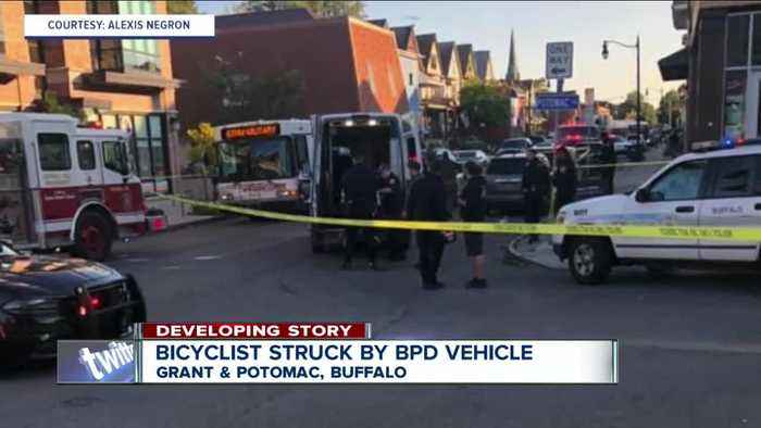 Bicyclist taken to ECMC after Buffalo police officer involved crash