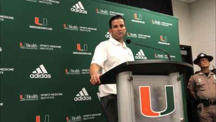 Manny Diaz after Miami Hurricanes loss to Georgia Tech