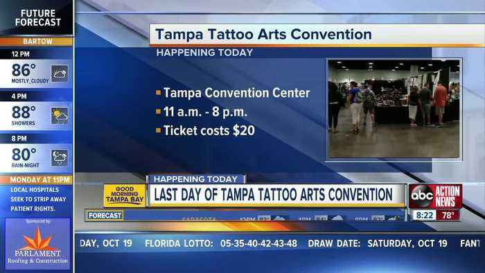 Tampa Tattoo Arts Convention continues today downtown