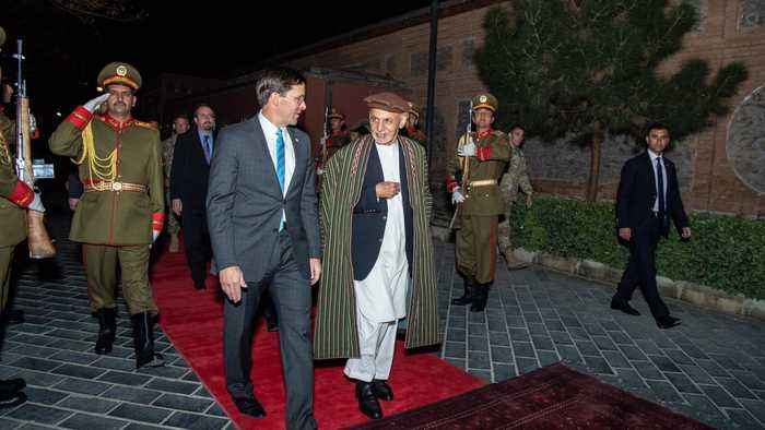 U.S. Defense Secretary Visits Afghanistan To Restart Peace Talks