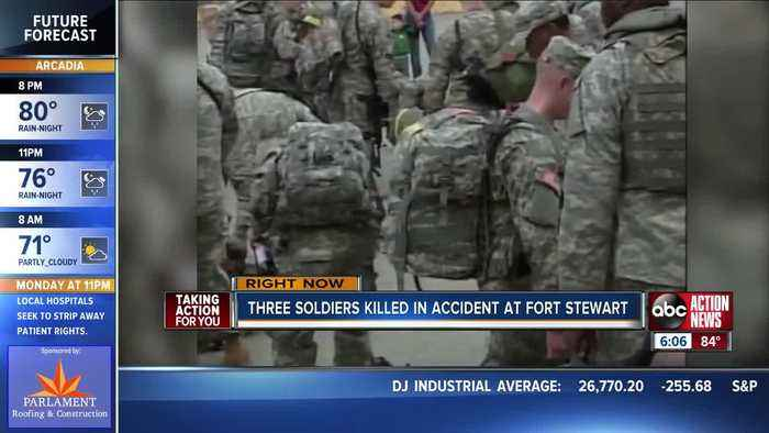3 soldiers killed, 3 injured in training accident at Army airfield in Georgia