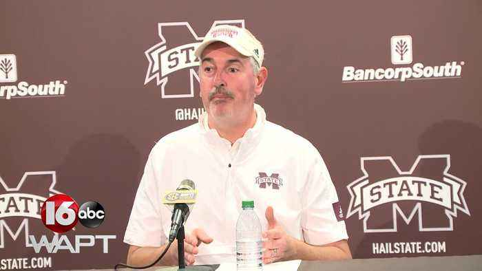 Joe Moorehead delivers passionate post game speech after a 36-13 loss to No.2 LSU