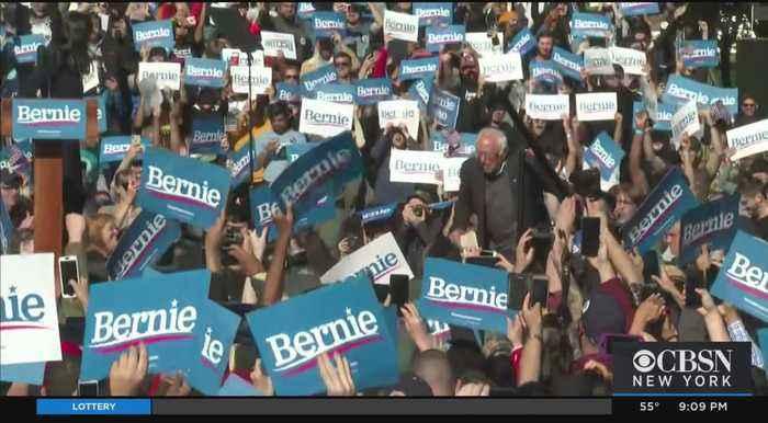 Bernie Sanders Holds Packed Rally In Queens