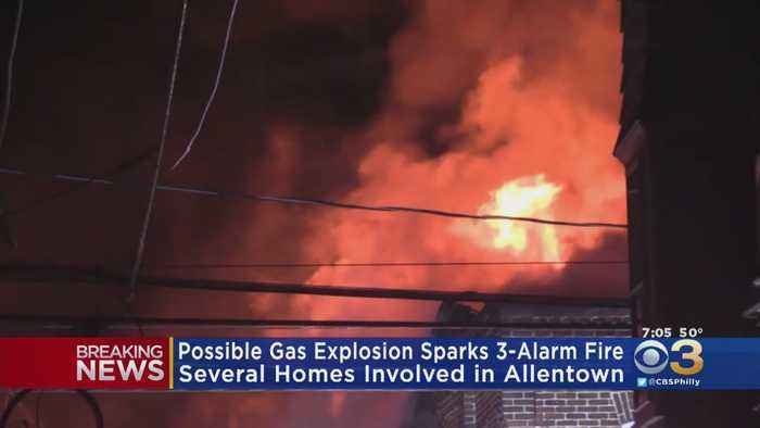 Possible Gas Explosion Sparks Massive Fire In Allentown, Spreads To At Least 10 Homes