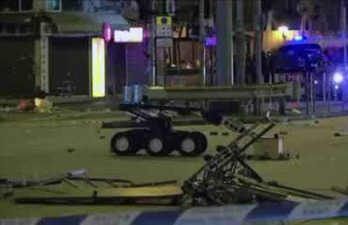 Hong Kong police detonate bomb