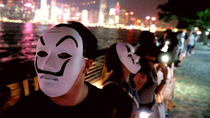 Hong Kong protesters rally in defiance of police ban