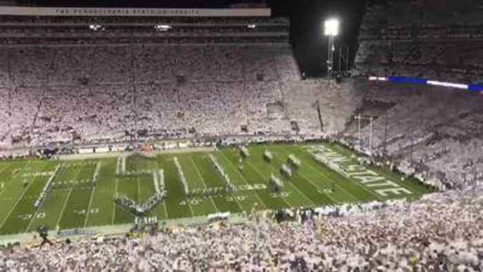 A time-lapse view of the 2019 Penn State 'Whiteout'