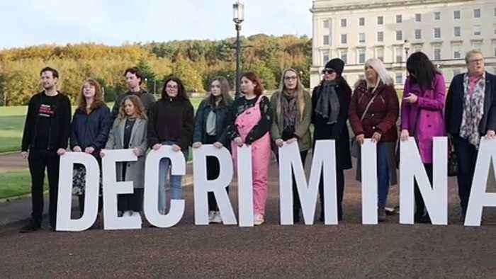 Protests at Stormont over abortion law