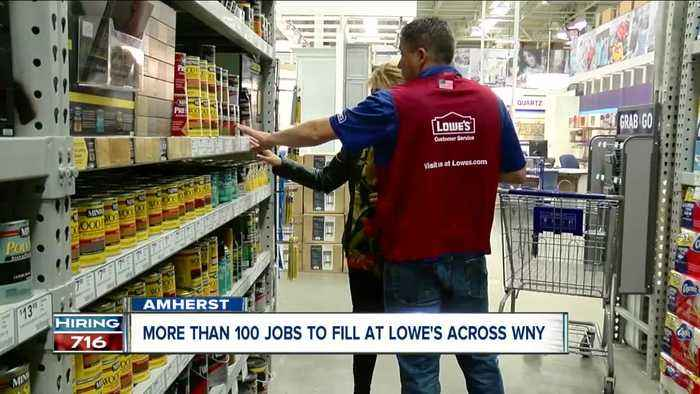 Looking for a job? Lowe's is looking for you, with more than 100 positions to fill