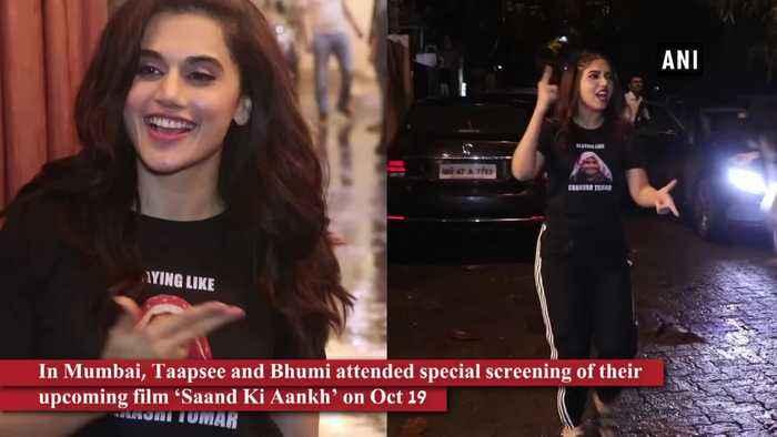 Taapsee, Bhumi attend special screening of Saand Ki Aankh in Mumbai