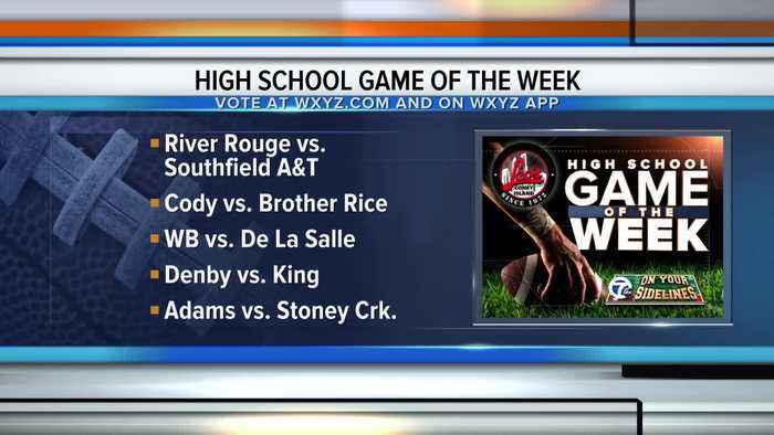 Voting open for WXYZ Game of the Week: 2019 Week 9