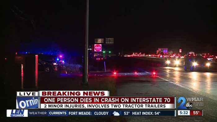 Driver dies after traveling wrong way on I-70 east, colliding with two trucks