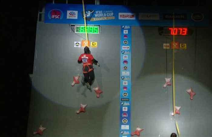 Susanti Rahayu sets new speed climbing world record