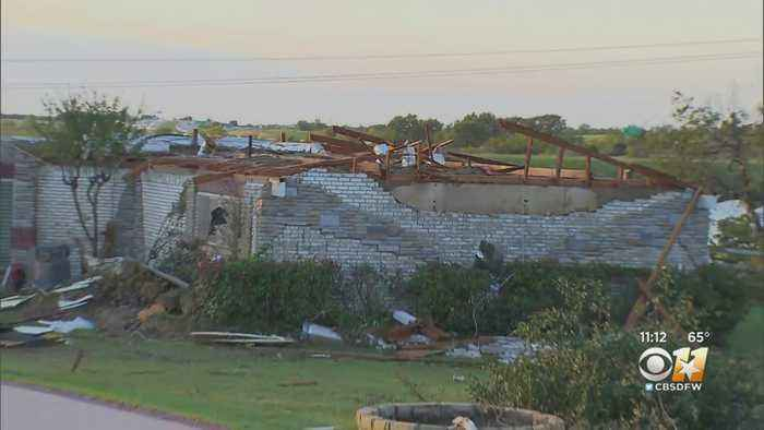 Storms Leave Some Homes In Sachse Uninhabitable