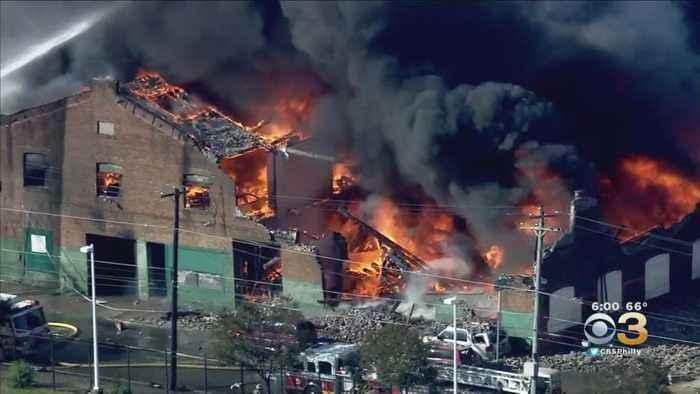 Massive Fire Tears Through Cobbs Creek Auto Body Shop