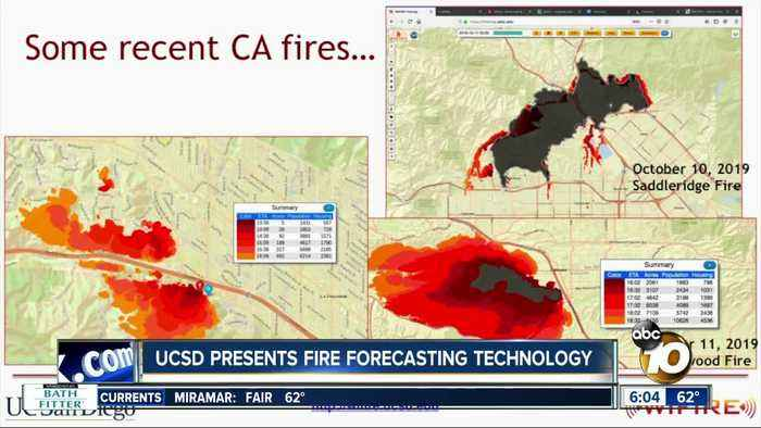 UC San Diego scientists present technology to help forecast wildfires