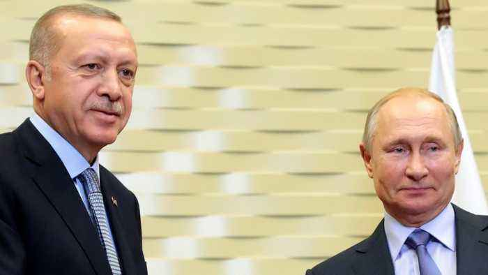 Erdogan and Putin hold press conference following talks