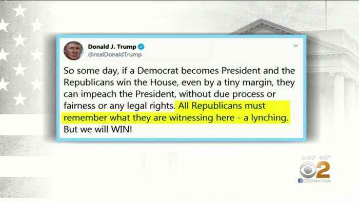 President Invokes 'Lynching' In Impeachment Inquiry