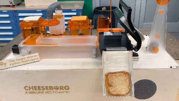 THE RISE OF THE CHEESEBORG: THESE ENGINEERING STUDENTS CREATED A MACHINE THAT COULD AUTONOMOUSLY MAKE GRILLED CHEESE SANDWICHES