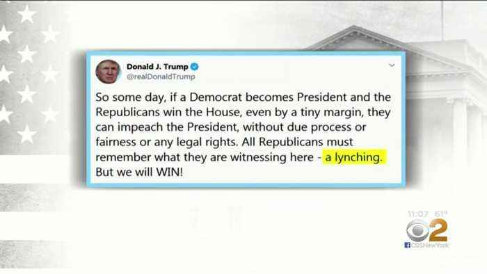 President Trump Compares Impeachment Probe To A Lynching
