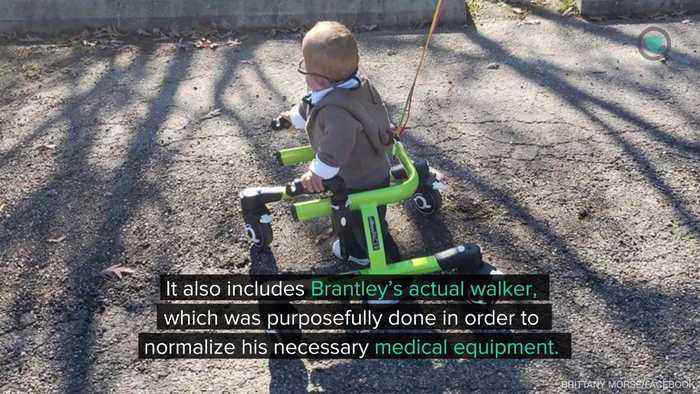 Two-Year-Old Boy With Cerebral Palsy Is All Dressed 'Up' for First Ever Halloween Costume