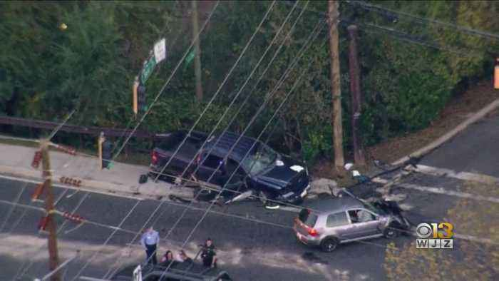 At Least Five Injured, Including Cyclist, In Montgomery County Crash