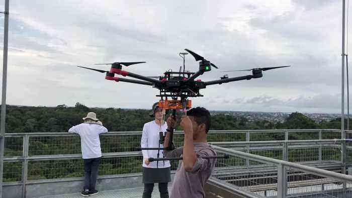 Harvard researchers are using Hollywood-style drones to study previously unreachable areas of the Amazon rainforest
