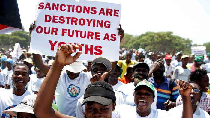 Thousands in Zimbabwe denounce 'evil' Western sanctions