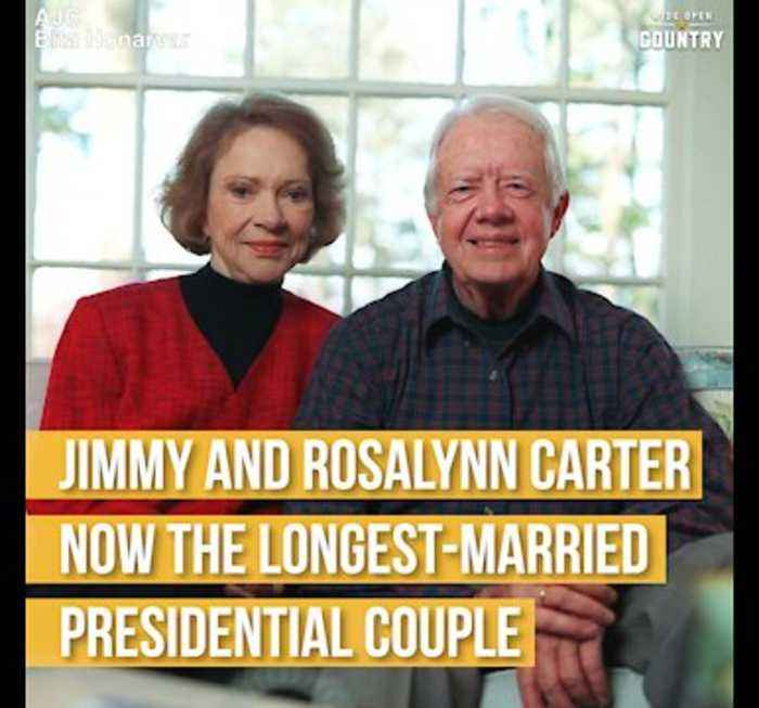 Jimmy and Rosalynn Carter Longest Married Presidential Couple