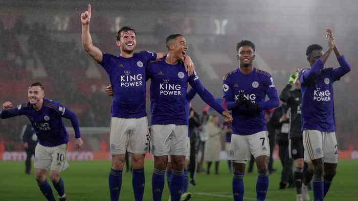 Leicester match Premier League record in rout of Southampton