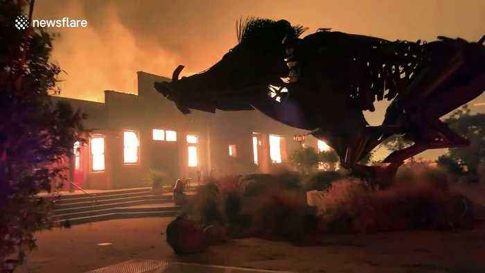 Wineries engulfed by flames as Kincade fire spreads in Sonoma County, California