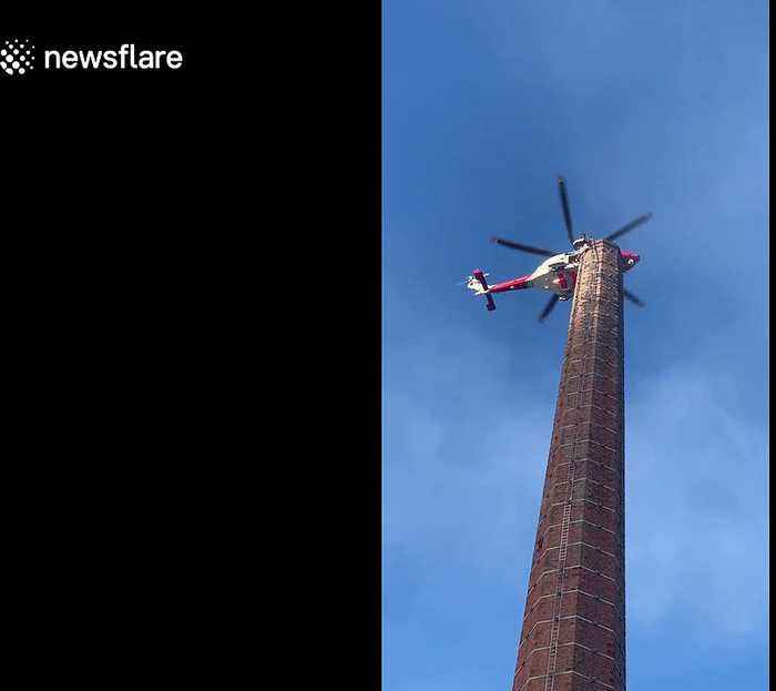 Man trapped up 290ft chimney in England sparks major rescue operation