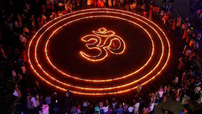 India celebrates Diwali with lights and firecrackers