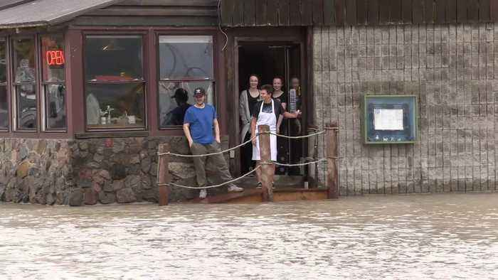 Canada's Port Dover flooded as tropical storm Olga surges