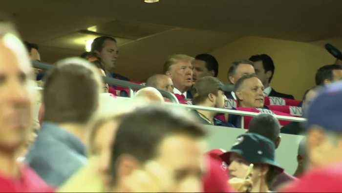 Donald Trump booed at baseball game