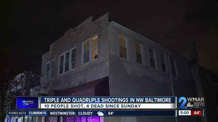 10 shot, 4 dead in Baltimore shootings since Sunday