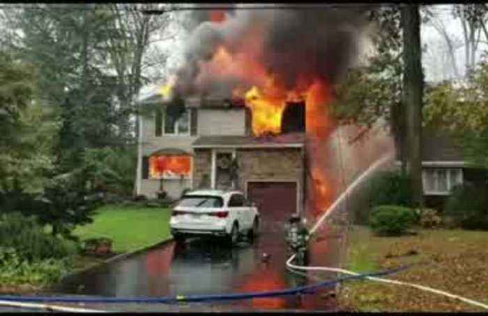 Home ablaze in New Jersey after small plane crash