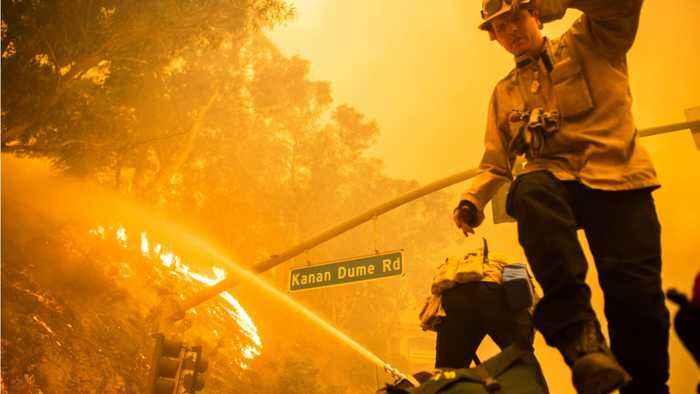 Fire Officials Worry As High Winds Menace California