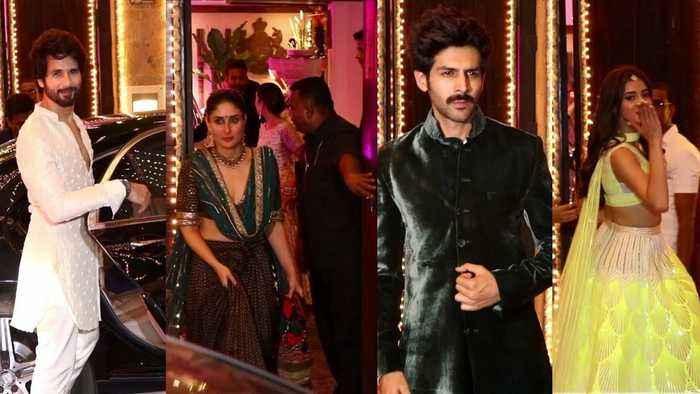 Kareena Kapoor & Ex Shahid Kapoor FaceOff at Bollywood's Biggest Diwali party 2019