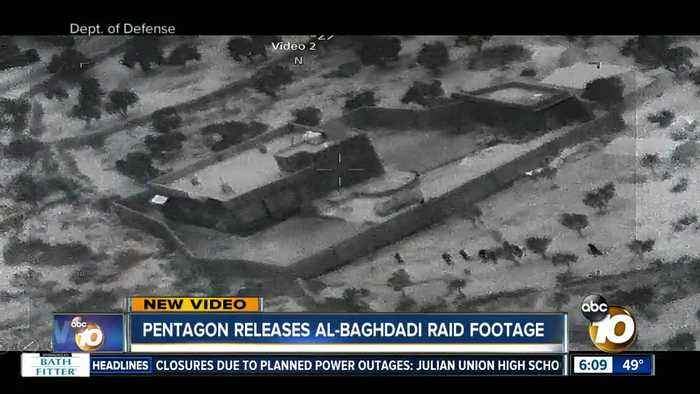 Pentagon releases Al-Baghdadi raid footage