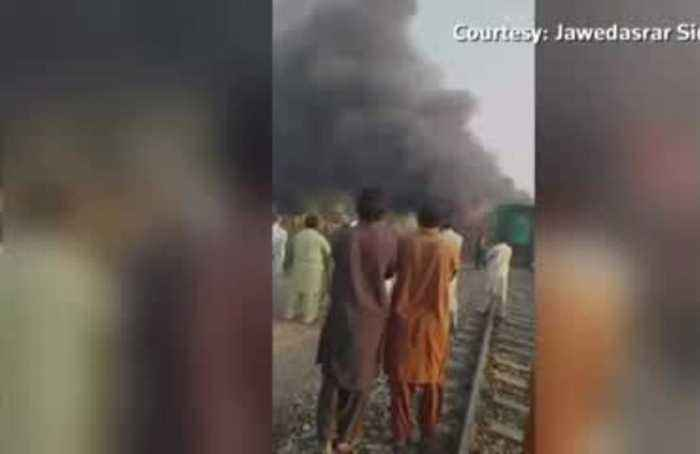 At least 65 killed in Pakistan train fire