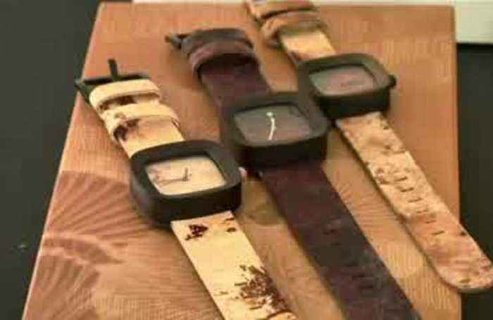 How 'mushroom leather' is used to make eco-friendly watch straps