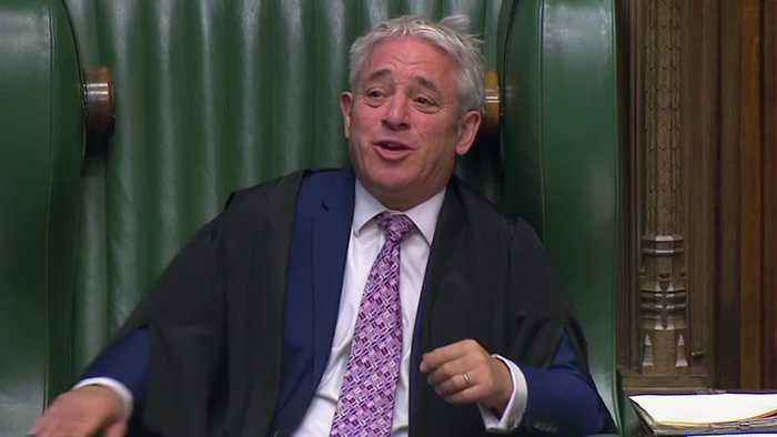 MPs pay tribute to outgoing Speaker John Bercow