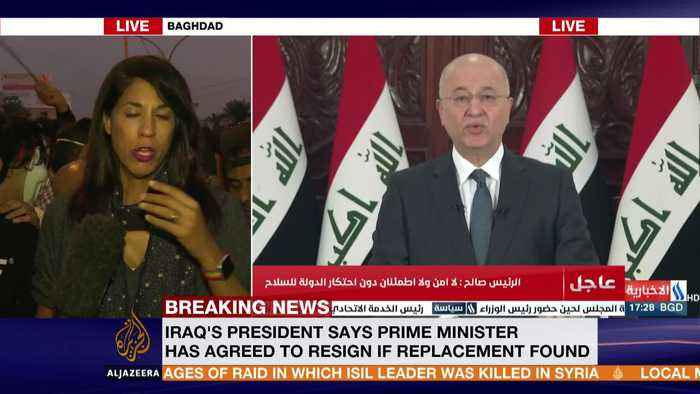 Iraqi president says PM will be replaced if replacement is found