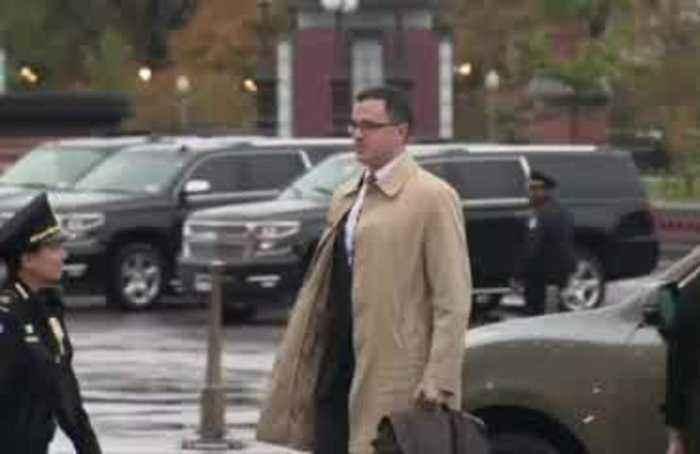 Former White House adviser arrives for impeachment testimony