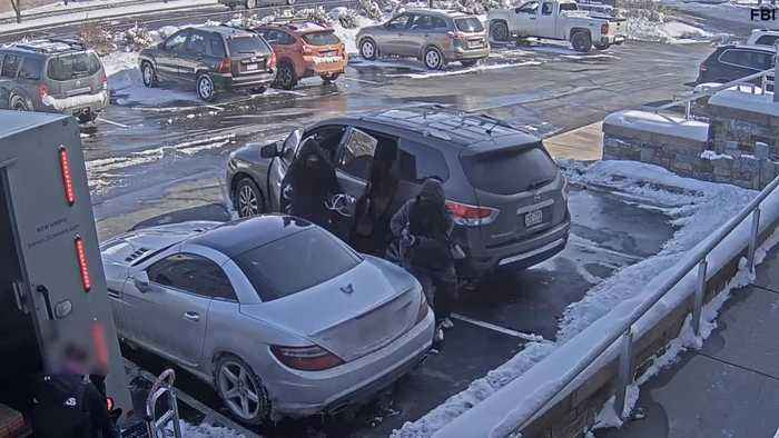 Full video: Brink's armored vehicle robbed at gunpoint in Greenwood Village