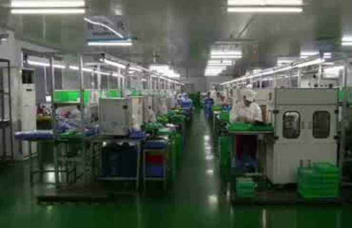 Gobal shares rise on upbeat China factory data