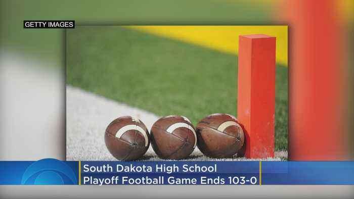 South Dakota High School Playoff Football Game Ends 103-0