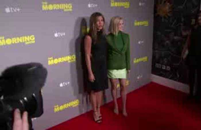 Jennifer Aniston and Reese Witherspoon talk ageism and #MeToo at London launch of ''The Morning Show''