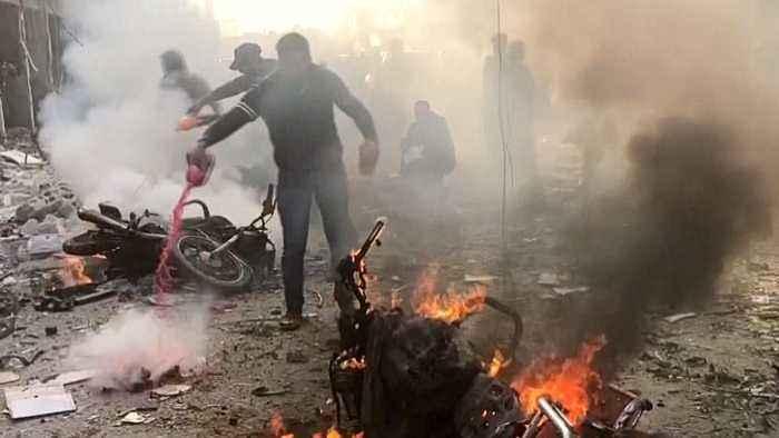 Turkey-Syria border: At least 13 killed in car bomb explosion